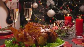 Nowego Roku świąteczny stół zbiory