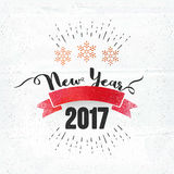 Nowego Roku świętowania 2017 plakat, sztandaru projekt Obrazy Royalty Free