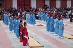 Nowego Roku świętowanie przy Shuri kasztelem w Okinawa, Japonia Obrazy Stock