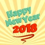 Nowego roku życzenia karta z miękkim beżowym starbeam Fotografia Royalty Free