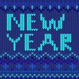 Nowego roku błękit Obrazy Royalty Free