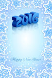 Nowego Roku 2016 błękita tło Zdjęcia Stock