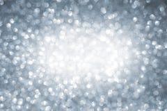 Nowego Roku błyszczący tło abstrakcjonistyczny srebro Fotografia Royalty Free