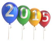 Nowego Roku 2015 balony bawją się wakacyjną dekorację Zdjęcie Royalty Free