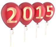 Nowego Roku 2015 balony bawją się wakacyjną dekorację Fotografia Royalty Free