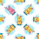 Nowego Roku bezszwowy wzór z świniami obraz royalty free