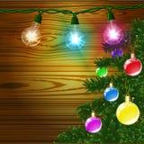 Nowego roku bożenarodzeniowy i Szczęśliwy tło Obraz Royalty Free