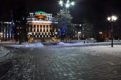 Nowego Roku budynek Zdjęcia Stock