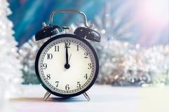 Nowego Roku budzik obrazy royalty free