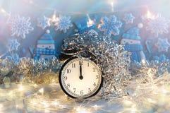 Nowego Roku budzik midpoint Świąteczny Chritmas tło zdjęcie royalty free