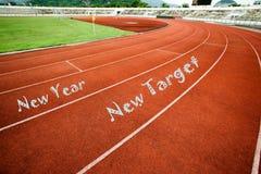 Nowego roku celu nowy pojęcie na bieg śladzie obrazy royalty free
