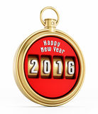 Nowego roku 2016 chronometr Zdjęcie Stock