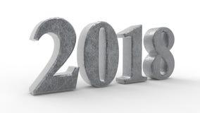 Nowego roku 2018 3d zieleń ilustracja wektor