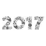 Nowego roku 2017 doodle Zdjęcia Royalty Free