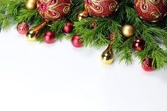Nowego Roku drzewa zabawki piłki tło obrazy stock