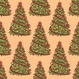 Nowego Roku drzewo z piłkami Obraz Stock