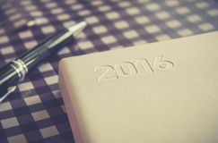 Nowego Roku 2016 dzienniczek Obraz Stock