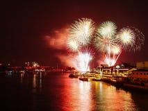 Nowego Roku fajerwerk Tajlandia Obraz Royalty Free