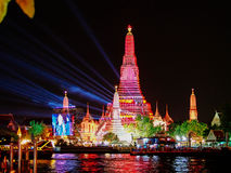 Nowego Roku fajerwerk Tajlandia Obrazy Stock