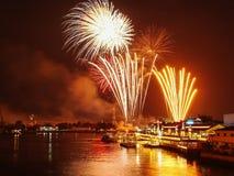 Nowego Roku fajerwerk Tajlandia Obrazy Royalty Free