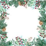 Nowego Roku i boże narodzenie kwadrata rama ilustracja wektor