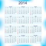 Nowego Roku 2014 kalendarz dla wszystkie miesięcy Fotografia Stock