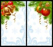 nowego roku karciani boże narodzenia Zdjęcie Stock