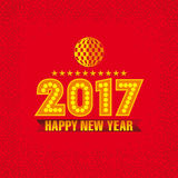 Nowego Roku Karciany projekt Zdjęcie Royalty Free