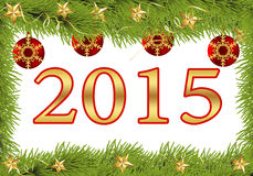 Nowego roku kartka z pozdrowieniami 2015 Obraz Royalty Free