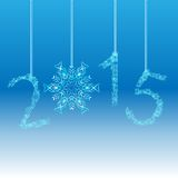 Nowego roku 2015 kartka z pozdrowieniami Wektor EPS 10 Obraz Stock