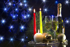 nowego roku karty Fotografia Royalty Free