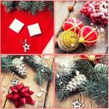 Nowego roku kolaż Fotografia Stock