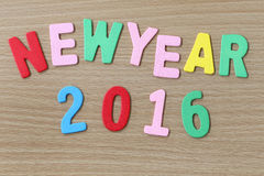 Nowego Roku kolorowy tekst Fotografia Royalty Free