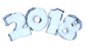 Nowego Roku 2018 lodowaty tekst robić błękita lód ilustracja wektor