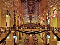 Nowego Roku oświetlenie w dziąśle dla 2006-2007 zima wakacji Zdjęcie Stock