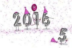 Nowego Roku 2016 partyjny humor royalty ilustracja