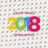 Nowego roku plakat ma bezszwowego nowego roku tło Zdjęcia Stock