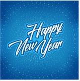 Nowego roku plakat z błękitnym kurenda wzorem Obrazy Royalty Free