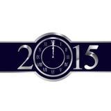 Nowego roku 2015 pojęcie z zegarem Zdjęcie Stock