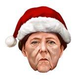 Nowego Roku portret Angela Merkel Zdjęcia Stock
