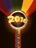Nowego Roku przyjęcia 2016 tło Zdjęcia Royalty Free