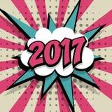 Nowego roku 2017 różowy tło royalty ilustracja
