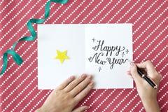Nowego Roku rocznik Świętuje Grudnia wydarzenia pojęcie Zdjęcia Royalty Free