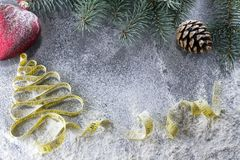 Nowego roku ` s decyzje o zdrowym stylu życia Zdrowi łasowania i diety wakacje Stawiający w w dobrym stanie! Obraz Stock
