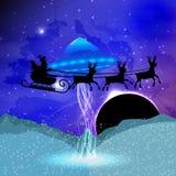 Nowego Roku ` s i boże narodzenia Santa claus ilustracja wektor