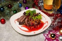 Nowego Roku ` s stół Obsługowy nowego roku ` s stół Fotografie w wnętrzu zdjęcie stock