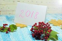 Nowego Roku `s tło 2018 Obrazy Stock