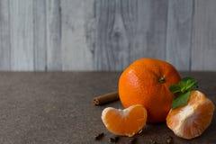 Nowego Roku ` s tangerines Zdjęcie Stock
