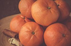 Nowego Roku ` s tangerines Obrazy Stock
