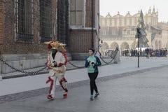 Nowego roku ` s wigilia biegająca w Krakow Zdjęcie Stock